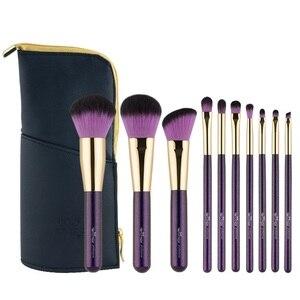 Image 5 - ANMOR 10 Pcs Make Up Pinsel Set Für Foundation Powder Blush Lidschatten Concealer Lip Eye Make Up Pinsel Kosmetik Schönheit Werkzeuge