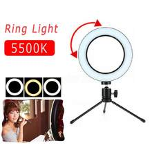 "8 ""/6"" LED 3 Modi 5500K Dimmbare Tragbare Studio Kamera Ring Licht Mit Stativ Für kamera Telefon Selfie Video Live-Stream(China)"
