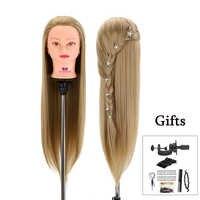Голова куклы для парикмахеров 30 ''волосы синтетические манекены головы прически женский манекен парикмахерские Стайлинг учебная голова