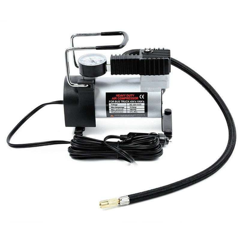 1x 12v  Universal Car Electric Air Compressor 100PSI Tyre Deflator Portable Inflator Pump For Bicycle Auto Motorcycle