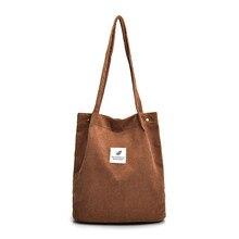 High Capacity Casual Women Corduroy Tote Ladies Canvas Bag Vintage Zipper Flap Shoulder Bale Messenger Crossbody Handbag Bolsos