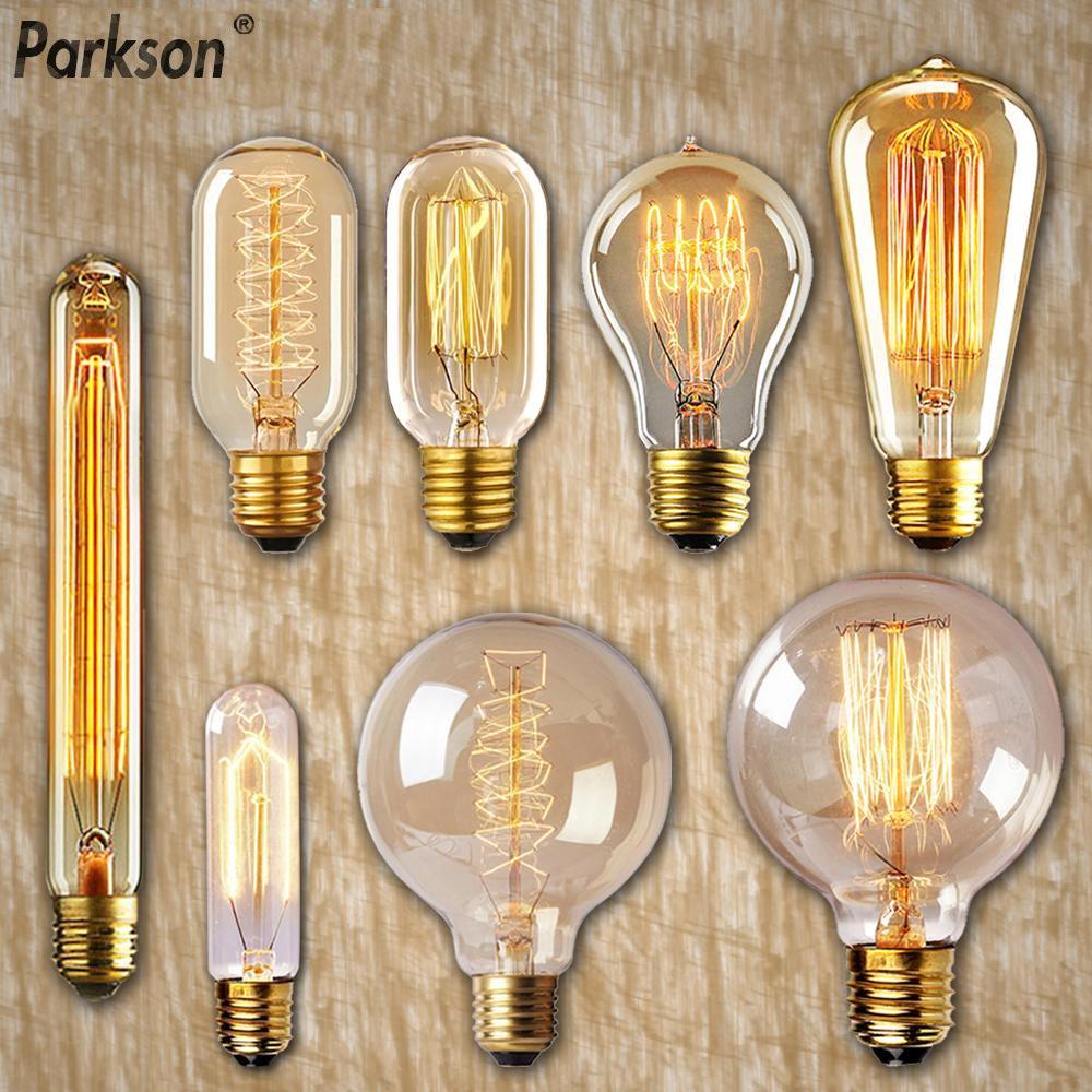 Dimmable Retro Edison Bulb E27 40W 110V 220V Vintage Pendant light Bulb ampoule incandescent lamp For Home Decor lamp Lampada