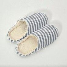 Зимняя обувь на плоской подошве; женские повседневные кроссовки; домашние тапочки; льняные Простые сандалии для влюбленных; Вьетнамки; женские домашние тапочки в полоску
