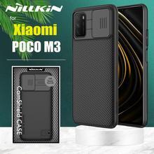 XiaomiポコM3ケースnillkin camshieldカメラ保護電話ケースレンズ保護ケースxiaomiポコM3