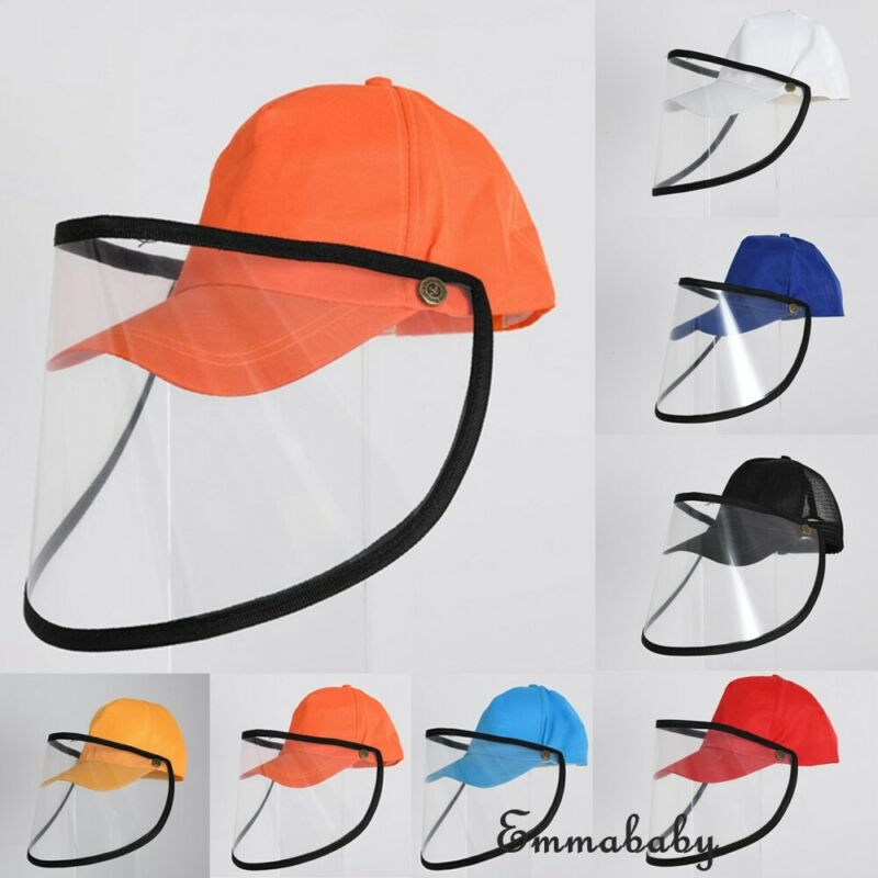 2020 New Anti-spitting Protective Visors Hat Dustproof Cover Cap Adjustable Fisherman Protective Hats With Face Mask Anti Splash