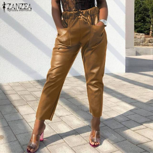 Women's PU Leather Trousers 1
