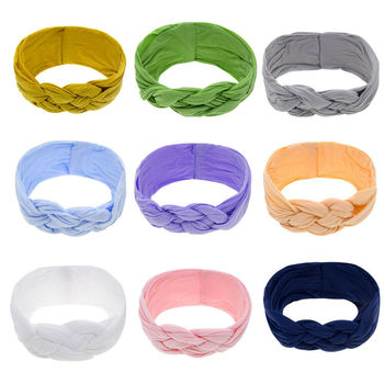 Toddler Knot Hair Band Newborn Head Wrap Kids Shower Props Gift Baby Accessories Baby Girls Bowknot Headband Infant 5pcs head wrap baby headbands headwear girls bow knot hairband head band infant newborn toddlers gift tiara hair accessories