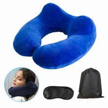 Urijk Inflatable U-shaped Pillows Travel Outdoor Portable Pillow Neckrest Travel Folding Slow Rebound Train Plane Office Travel(China)