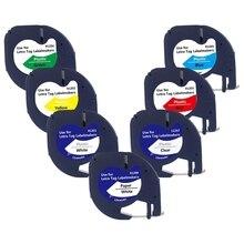 7 шт 91201 совместимый Dymo Letratag клейкие ленты 12 мм 91330 16952 91331 91332 смешанные Цвет кассета для Dymo Letratag Lt-100H