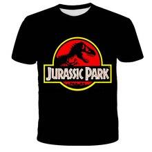 3D динозавр футболка дети с принтом динозавр футболка смешные лето юрский парк топы мультфильм юрский офлайн парк мальчики девочки одежда