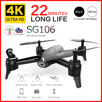 SG106 RC Drone 4K HD Dual Camera WIFI FPV Optical Flow Aerial Foldable Quadcopter Long Battery Life Birthday Present Gift Toys