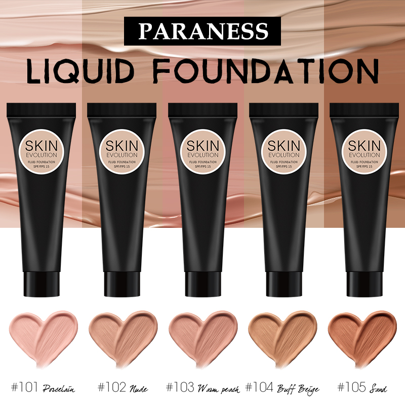 Paraness Foundation Cream for Face Professional Concealing Liquid Long-lasting Make Up Tonal Base High Coverage Makeup Bottom
