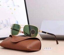 High Quality Vintage Sunglasses Men Women Driving Glasses Luxury Brand Designer Alloy Frame Tempered Glass Gafas De Sol 4822