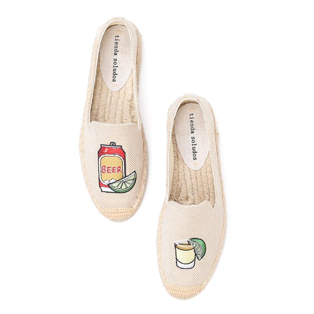 Tienda Soludos Espadrilles Shoes Linen Flats 2019 Limited Sapatos Zapatillas Mujer Hemp Fisherman Ladies Fashion Slip On Single