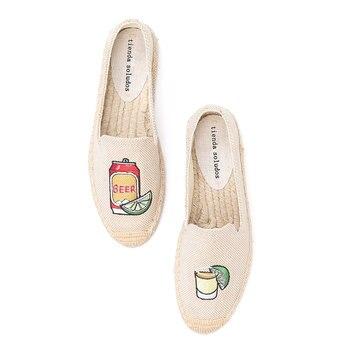 Tienda Soludos Espadrilles Shoes Linen Flats 2019 Limited Sapatos Zapatillas Mujer Hemp Fisherman Ladies Fashion Slip On Single - discount item  30% OFF Women's Shoes