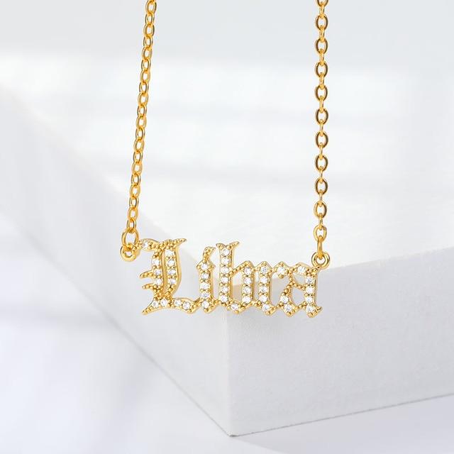 12 Zodiac Necklaces Choker  4