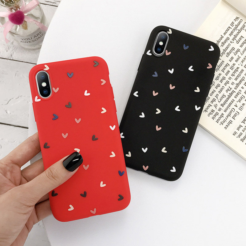 Love Heart Silicone Phone Back Shell For iPhone 11 Pro X XR XS Max 7 8 6 6s Plus 5 5s SE 1