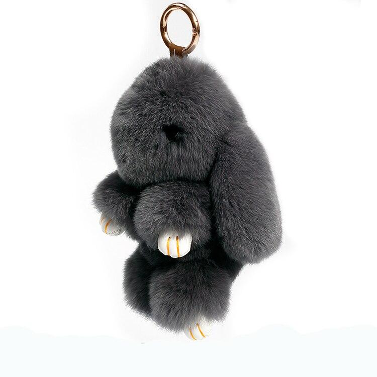 Genuine rabbit fur rabbit doll pendant bag decoration super cute plush rabbit pendant car ornament key chain