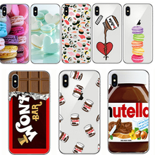 phone cover food chocolate nutella cake sushi soft silicone case for iphone 5 5s 6s 6 s 7 8 plus se x xr xs max