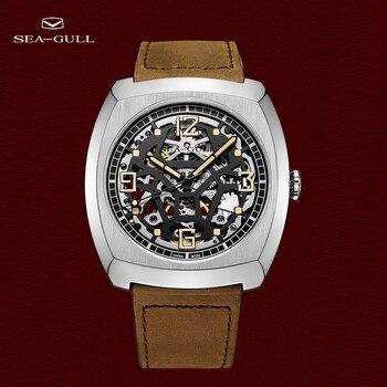 New 2021 Seagull Watch Automatic Mechanical Men's Watch Zodiac Bull Head Memorial Watch Concept Watch Skull Watch 6094 1