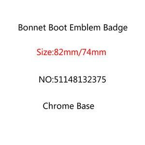 Image 1 - 20pcs/lot 82mm 74mm Chrome Base Bonnet Boot Emblem Badge Front Rear Trunk Logo E46 E39 E38 E90 E60 X3 X5 X6 511481323