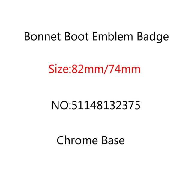20pcs/lot 82mm 74mm Chrome Base Bonnet Boot Emblem Badge Front Rear Trunk Logo E46 E39 E38 E90 E60 X3 X5 X6 511481323