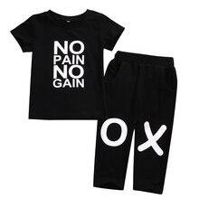 2019 Fashion Toddler Kids Baby Boys XO Letter Short Sleeves