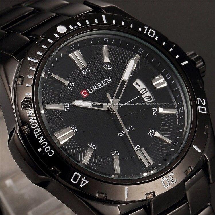 Для мужчин s часы Топ Элитный бренд CURREN 2018 Для мужчин часы с полностью стальным корпусом кварцевые часы аналог Водонепроницаемый спорт, арми... - 2