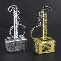 4 stile gold silber farbe retro Thor Hammer Metall Keychain Männer Frauen Auto Schlüsselring Film Fans Zubehör