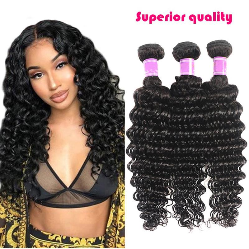 1pc Brazilian Human Hair Deep Curly Water Wave Hair Wig Natural Hair Curtain For Women Wavy Cosplay Hair Wig