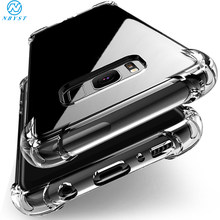 Case Voor Samsung Galaxy S10 S9 S8 Plus Siliconen Clear Shockproof Cover Voor Samsung A7 A9 A6 A8 2018 A10 a20 A30 A40 A50 A60 A70(China)