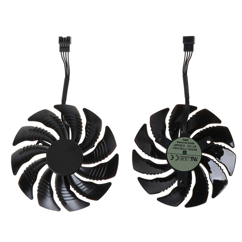 New T129215SU 85mm Replaced Cooling Fan Cooler Fan for Gigabyte Geforce GTX 1050 1050TI 1060 1070 C26 image