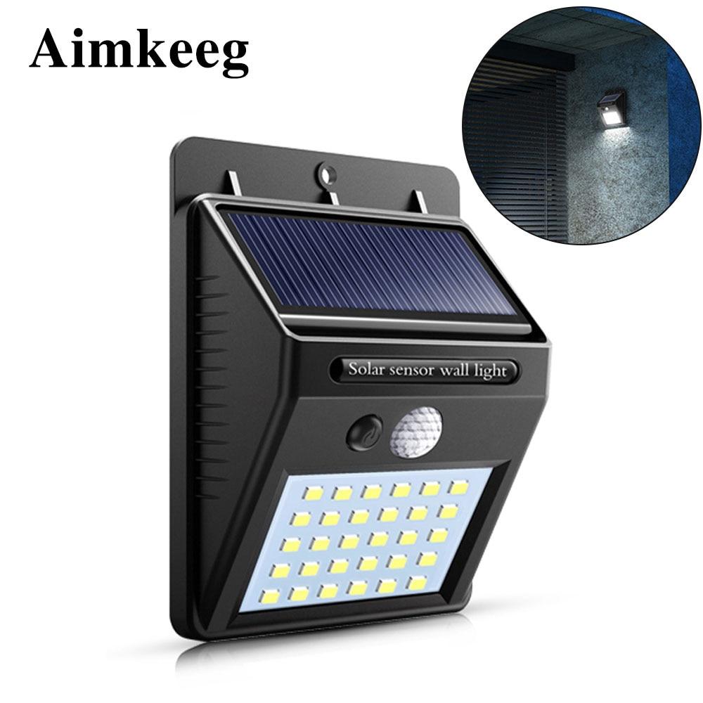 30 LED Solar Light PIR Motion Sensor Wall Light Outdoor Waterproof Solar Garden Light Energy Saving Street Garden Security Lamp