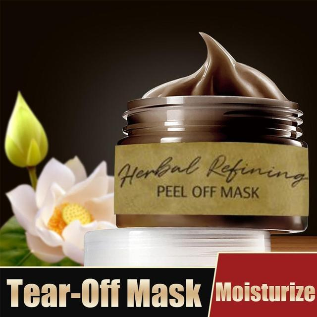 Herbal Refining Peel-Off Mask Tearing Remove Blackhead Cleaning Pores Shrink Skin Care MPwell Mask shrinks pores 1