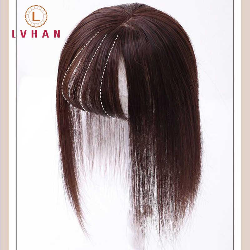 LVHAN 16 zoll Synthetische perücke topper haar air pony Gerade haar für frauen Toupet Haarteil Clip In einem stück 4 farbe perruque