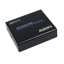 AM-937 4Kx2K HDMI to VGA Converter Video Converter HDMI to VGA 4K Scaler Adapter FL/FR Digital Analog Composite EU Plug