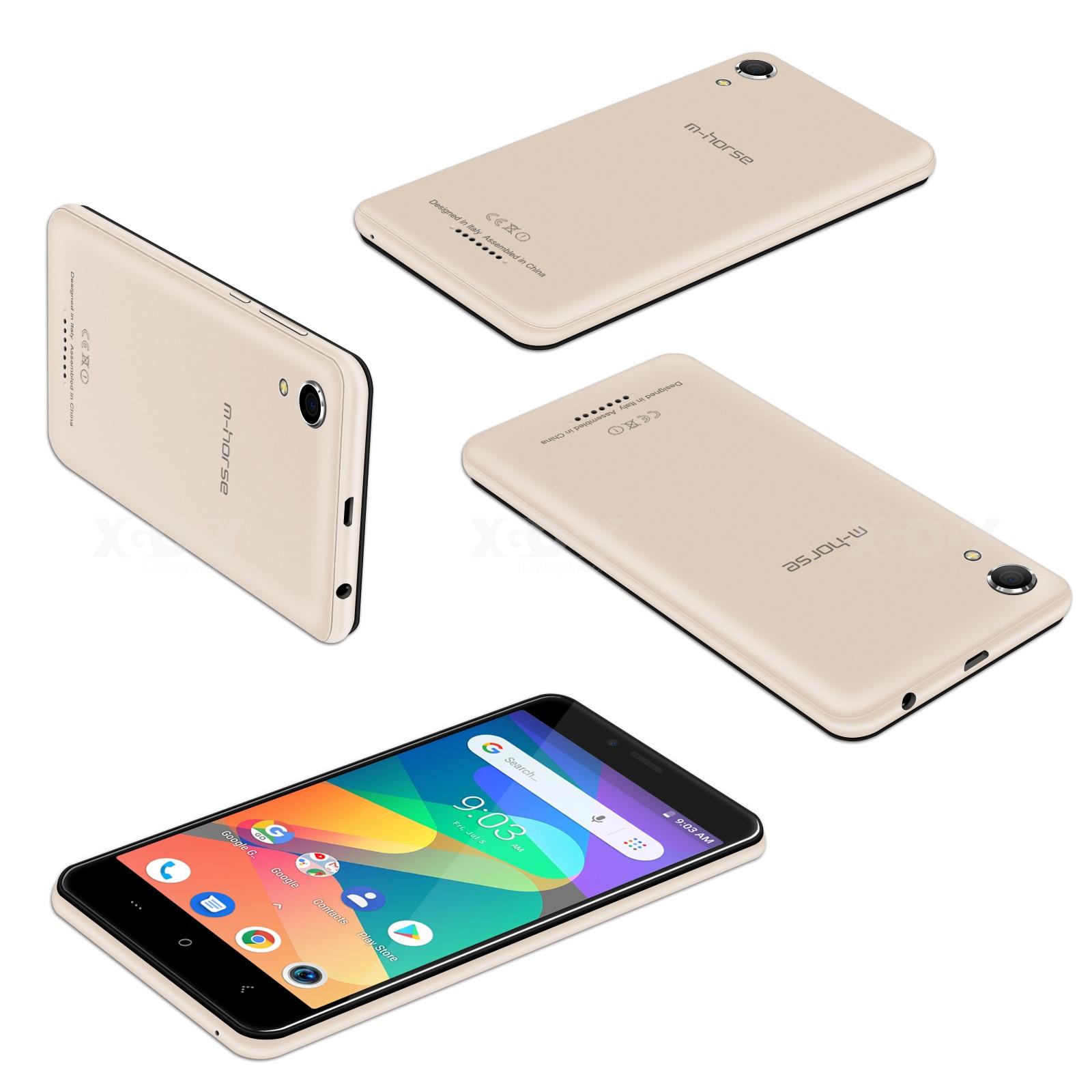 M-HORSE téléphone portable MTK6580 Quad Core Android 8.1 1GB RAM 8GB ROM 3G WCDMA 8.0MP 2000mAh double SIM Smartphone 5 pouces celulaire - 6