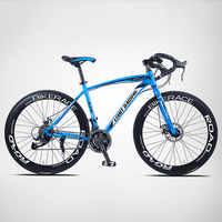 Bicicleta de carretera de piñón fijo para hombre y mujer, bici de 26 pulgadas y 27 velocidades, con viento roto