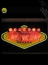 Las vegas sinal de néon bem-vindo ao fabuloso nevada fresco lâmpadas de néon recreação barra de cerveja iluminado garagem sinais de néon de vidro real tubo led