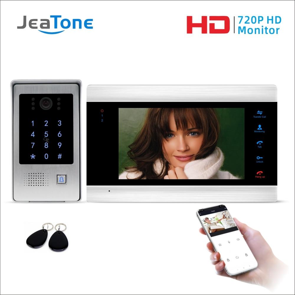 Tuya Smart Life App WiFi IP Video Door Phone Video Intercom Code Keypad/RFID Card/APP Unlock Motion Detection Access Control