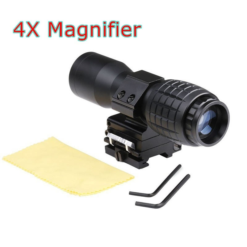 Aimming Tactical Sight 4X Magnifier FTS Flip To Side Airsoft Riflescope Scope For Hunting
