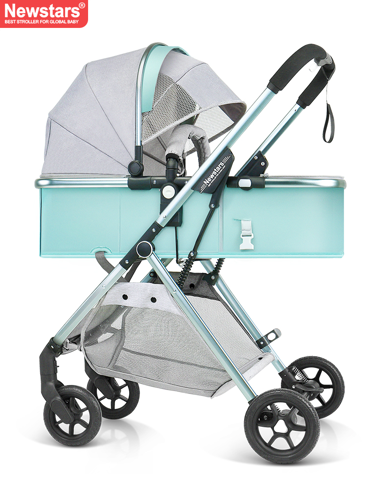 Baby stroller lightweight high landscape can sit lie folded two-way shock baby high view