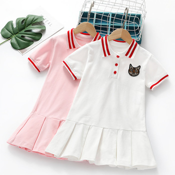 Girls Dress Summer 2020 New Korean Style Baby Girl Children Clothing Cotton Short Sleeve Fashion Dresses 3 4 5 6 7 8 9 Years european children clothing lace dresses girls new 2017 summer kids party frocks for girls 2 3 4 5 to 6 7 8 9 10 11 12 years