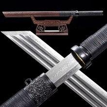 Saya Ninja en bois de poire Ninja japonais | Sabre, damas tranchant en acier, Wakizashi Katana couteau de combat asiatique + sac à épée en soie