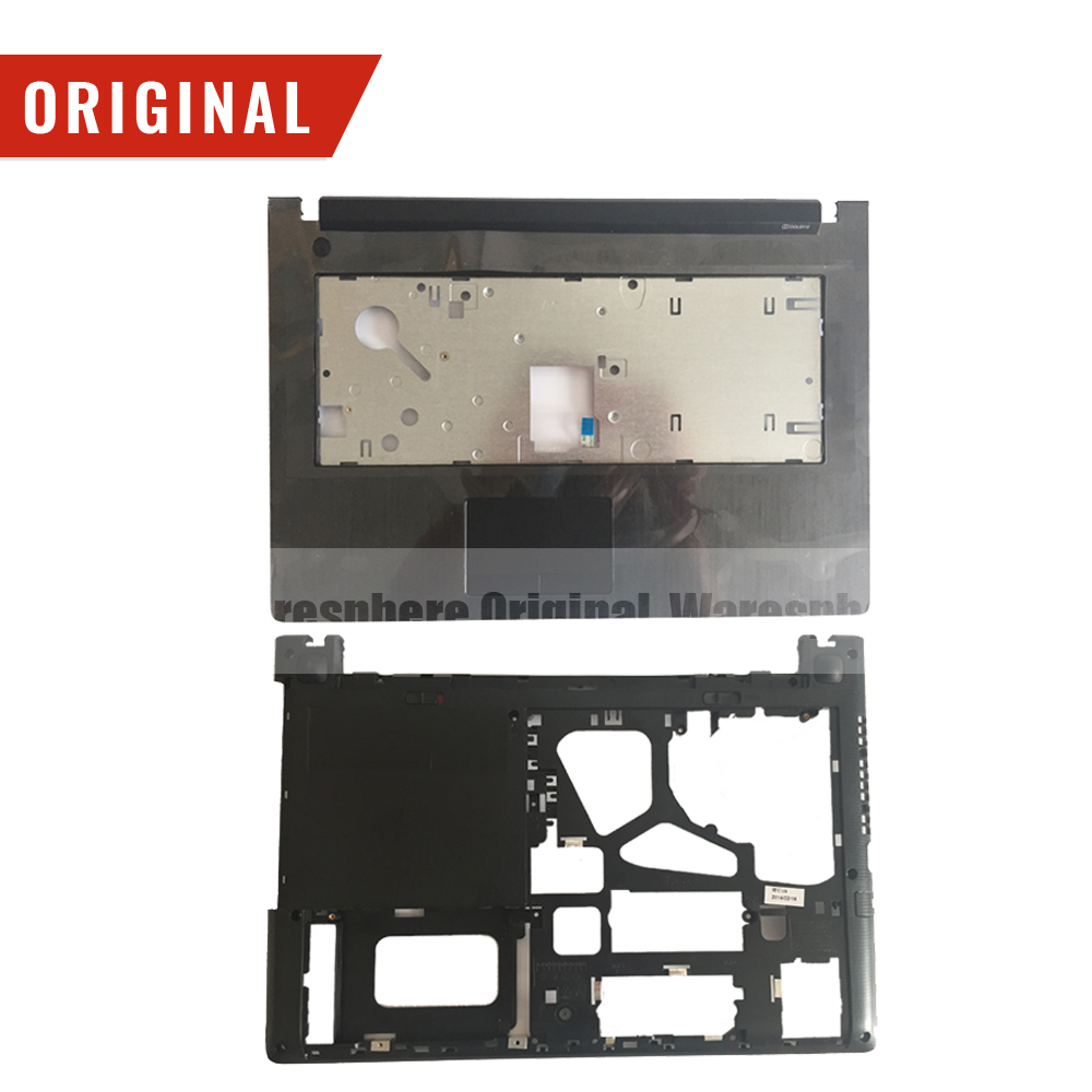 New Original  Palmrest With Touchpad Bottom Base Cover Case  Fan For Lenovo IdeaPad G40-30 G40-45 Z50 G50-30 G50-70 DC28000CGS0
