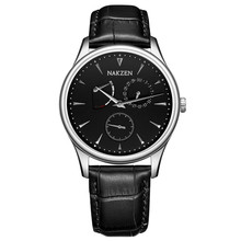 NAKZEN Business Wrist Watch Men Watches Top Brand Luxury Fashion Leather Strap Wristwatch New Male Quartz Watch For Men Clock sinobi causal business men wrist watches leather watchband luxury brand males geneva quartz clock gentleman wristwatch 2017 f45
