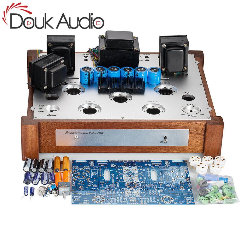 Douk Audio Hi-end 6SN7-300B Tube Amp Single-ended Class A Hi-Fi Stereo Power Valve Amplifier DIY Kit 7W*2