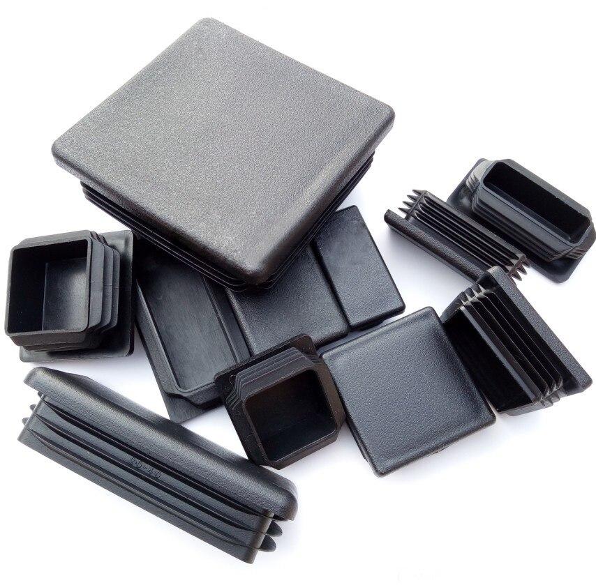 bouchon pour tube rectangulaire 40x30 noir plastique Capuchon Bouchons 5 pcs