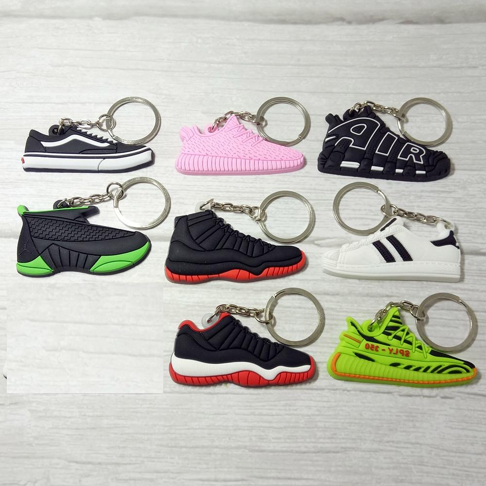 Silicone Jordan Key Chain Shoes Keychain Bag Charm Woman Men Kids Key Ring Gifts Sneaker Key Holder Accessories
