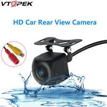 Vtopek чип HD автомобиля камера заднего вида обратный резервного копирования парковка водонепроницаемый универсальный авто монитор камеры ночного видения
